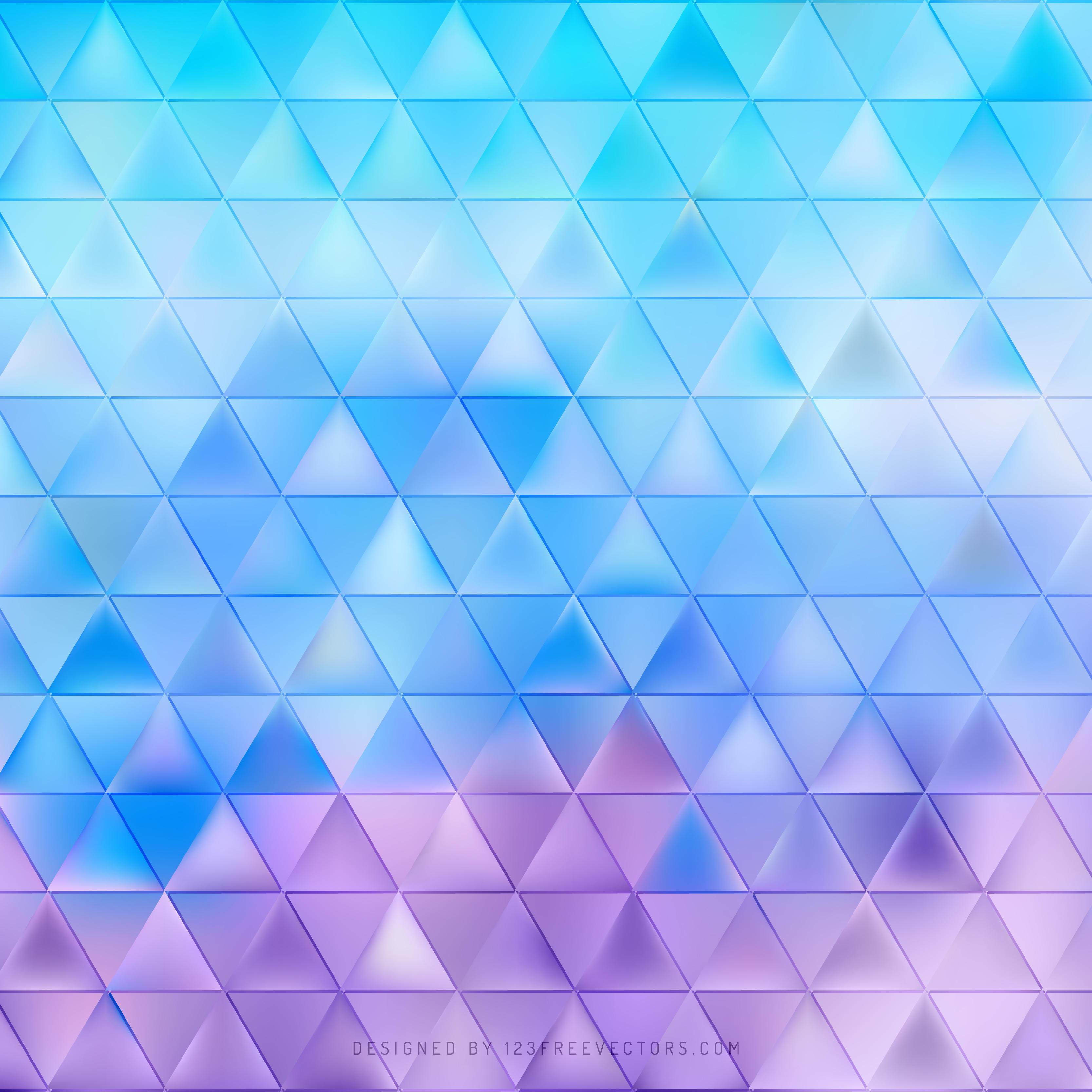 Blue Purple Triangle Background Pattern