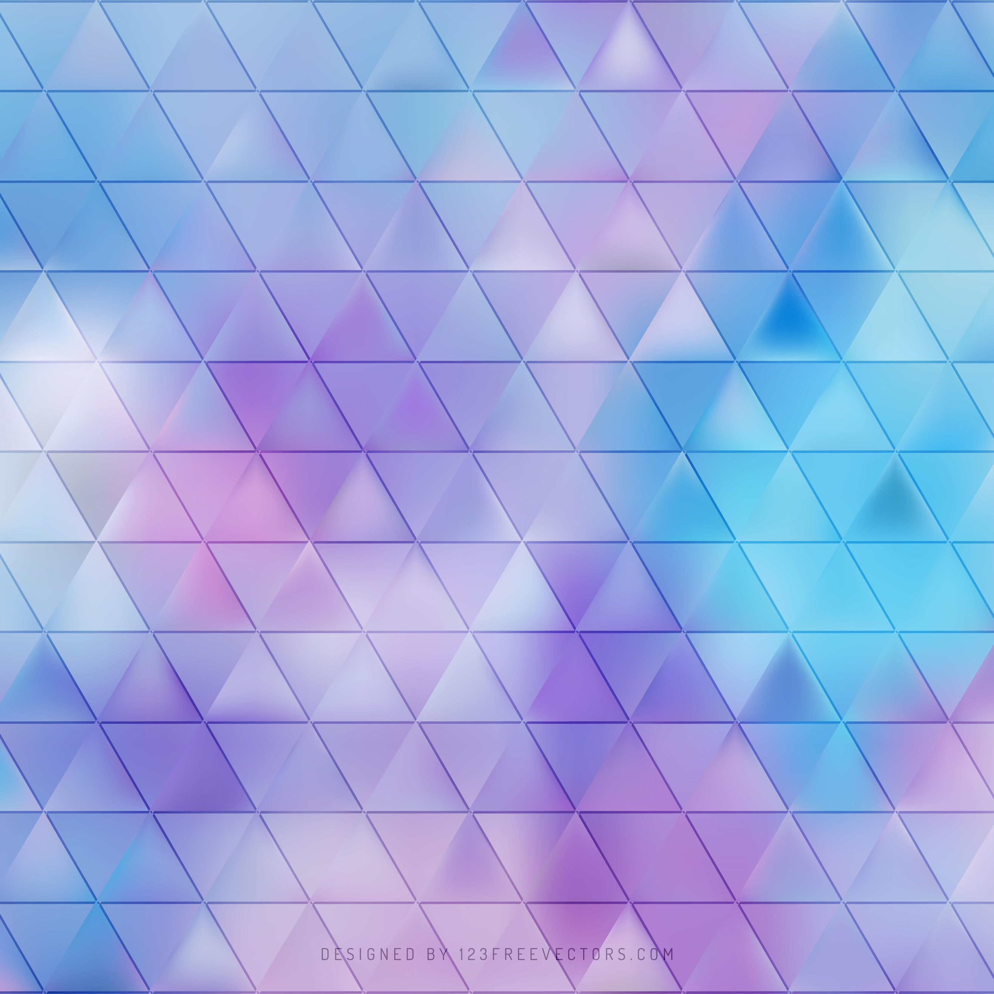 Blue Purple Triangle Vector Background