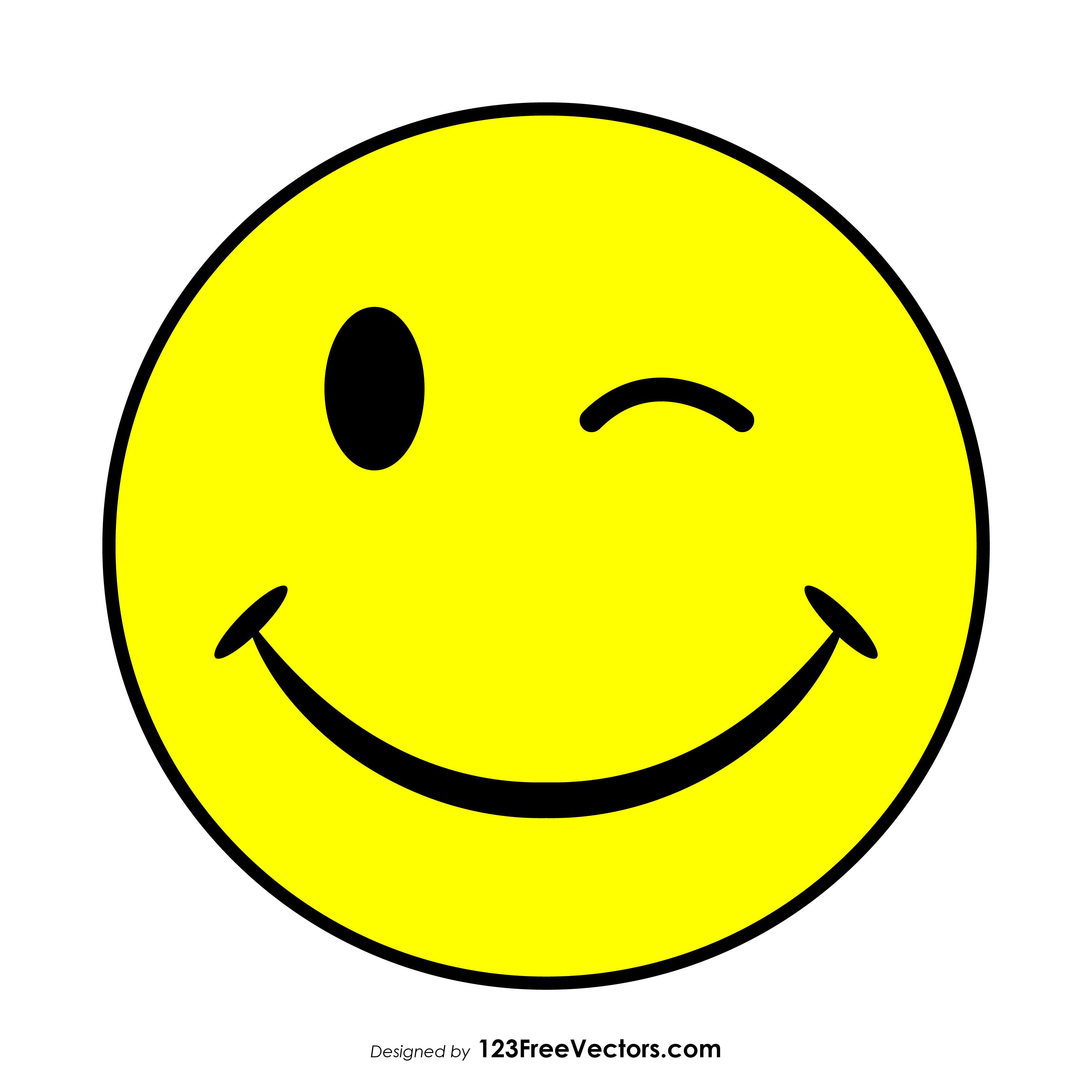 wink smiley vector free 123freevectors rh 123freevectors com smile vector free smile vector free