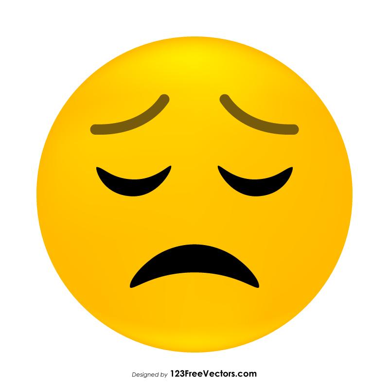 Sad Face Emoticon