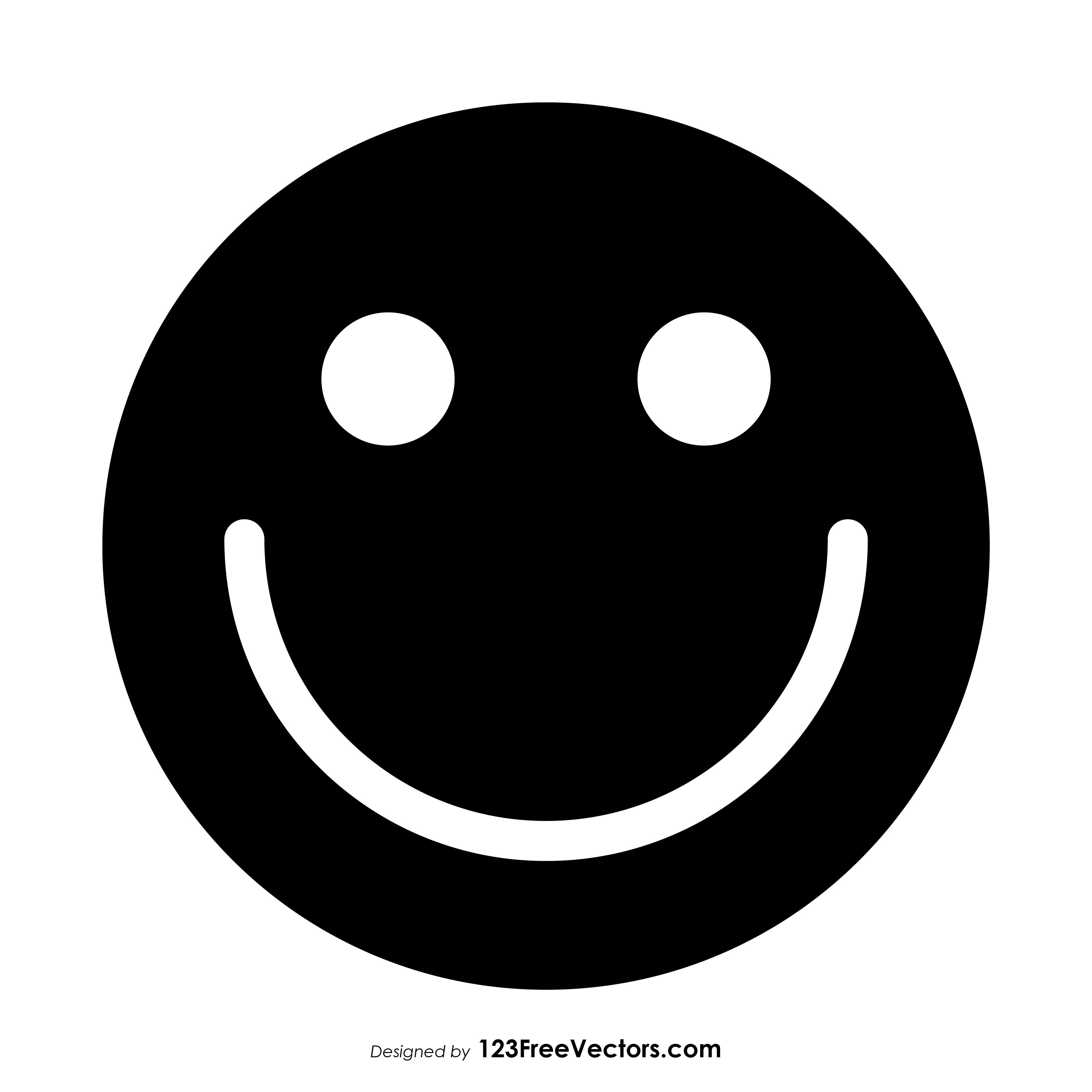 Black Smiley Face Symbol 123freevectors