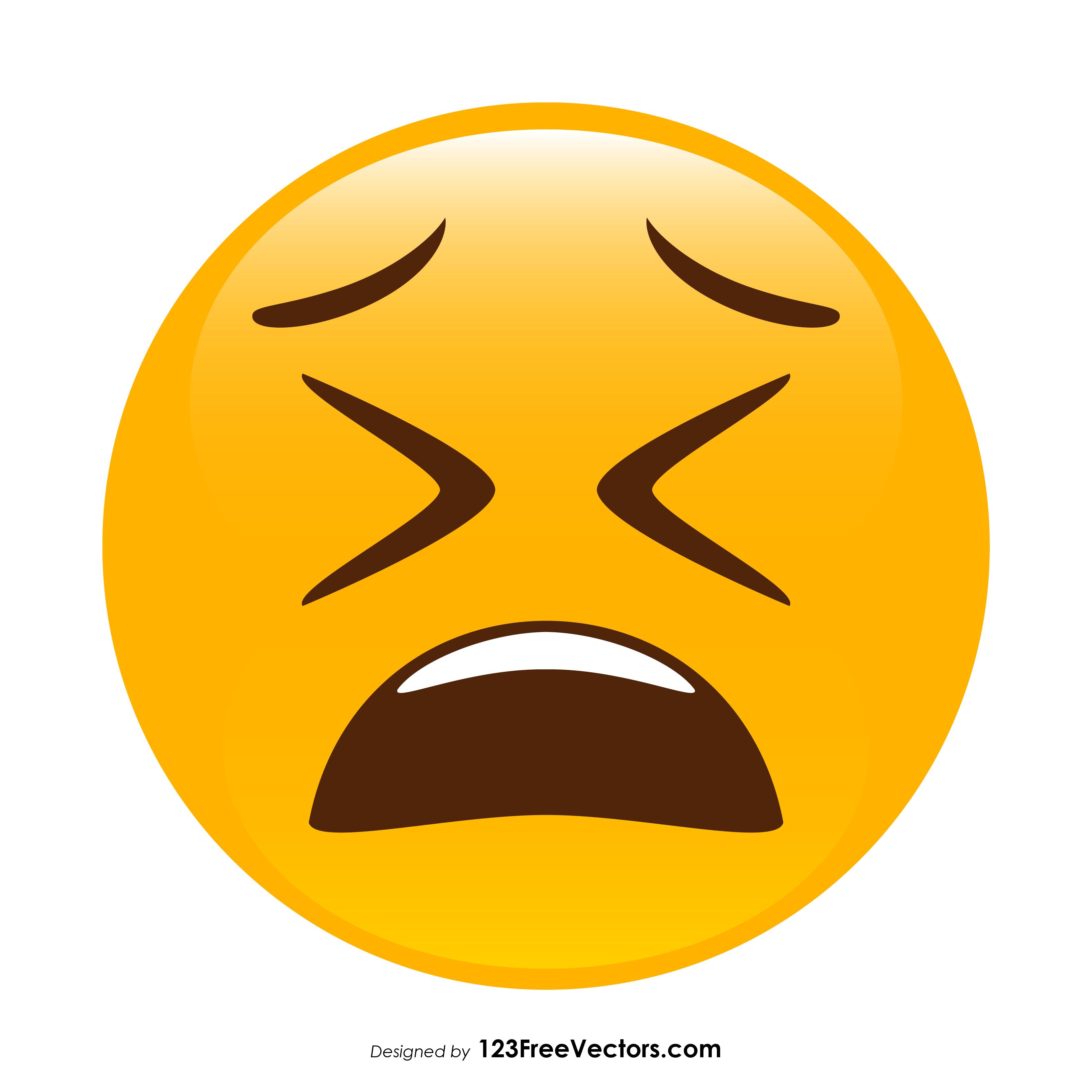 clipart emoji face weary
