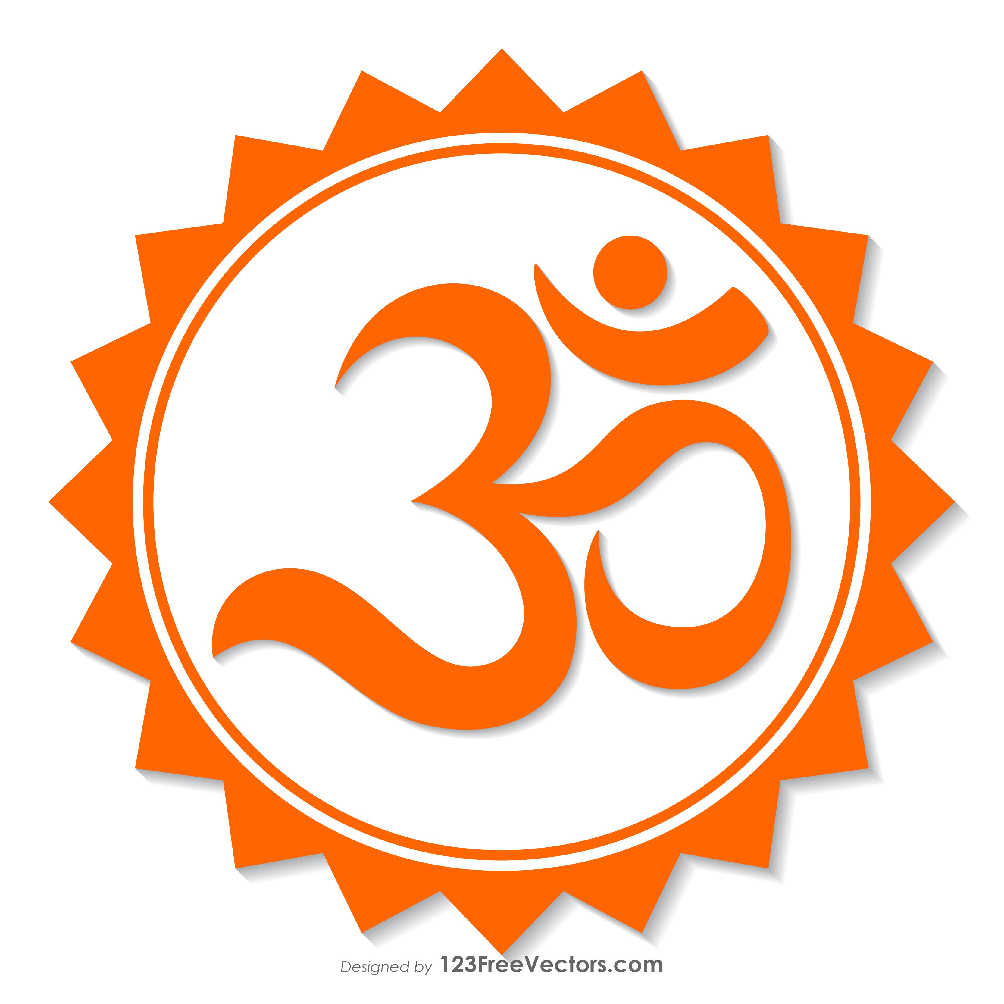 Orange Om Symbol 123freevectors
