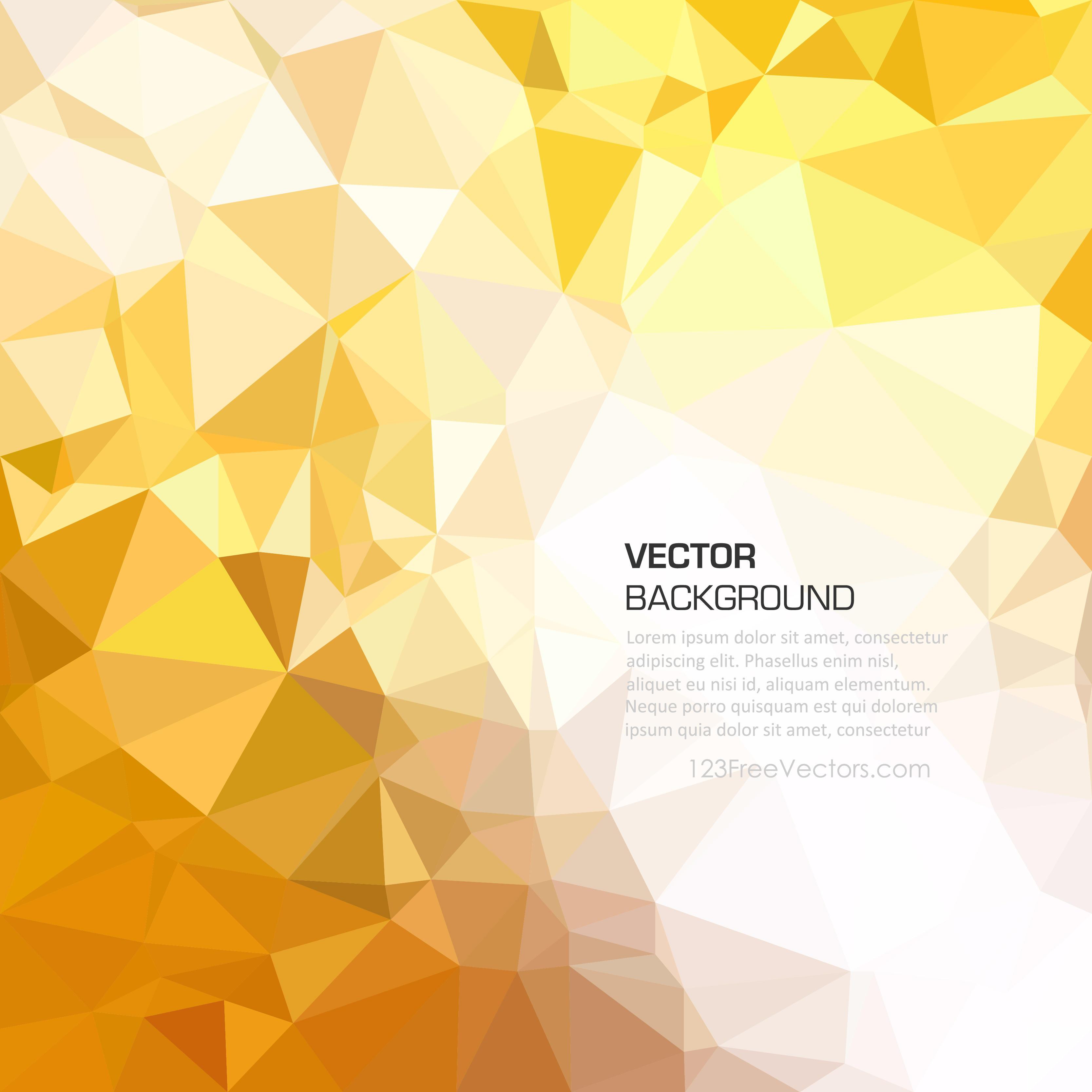 Geometric Polygon Yellow Orange Background Clip Art