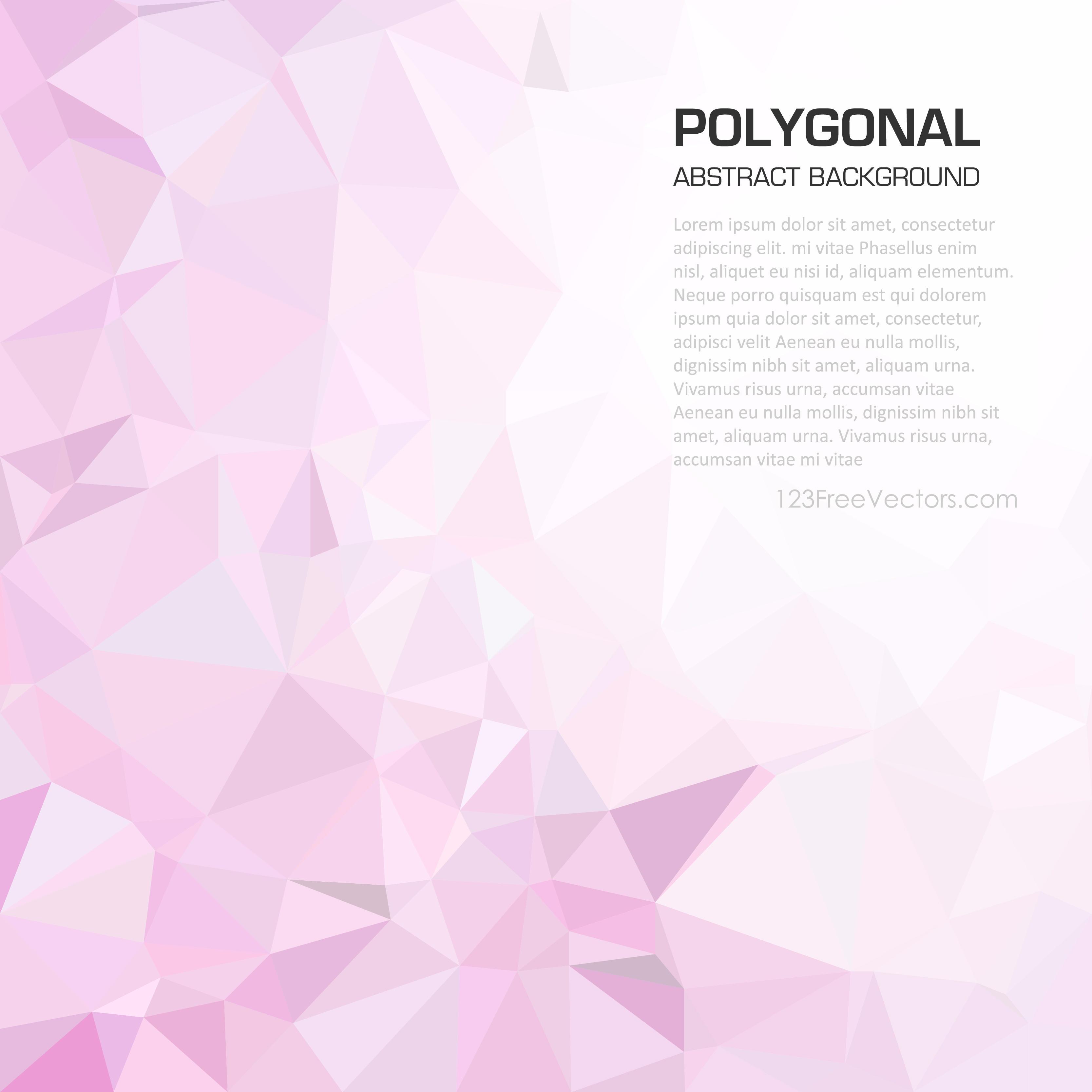 Light Pink Abstract Polygonal Background Illustrator