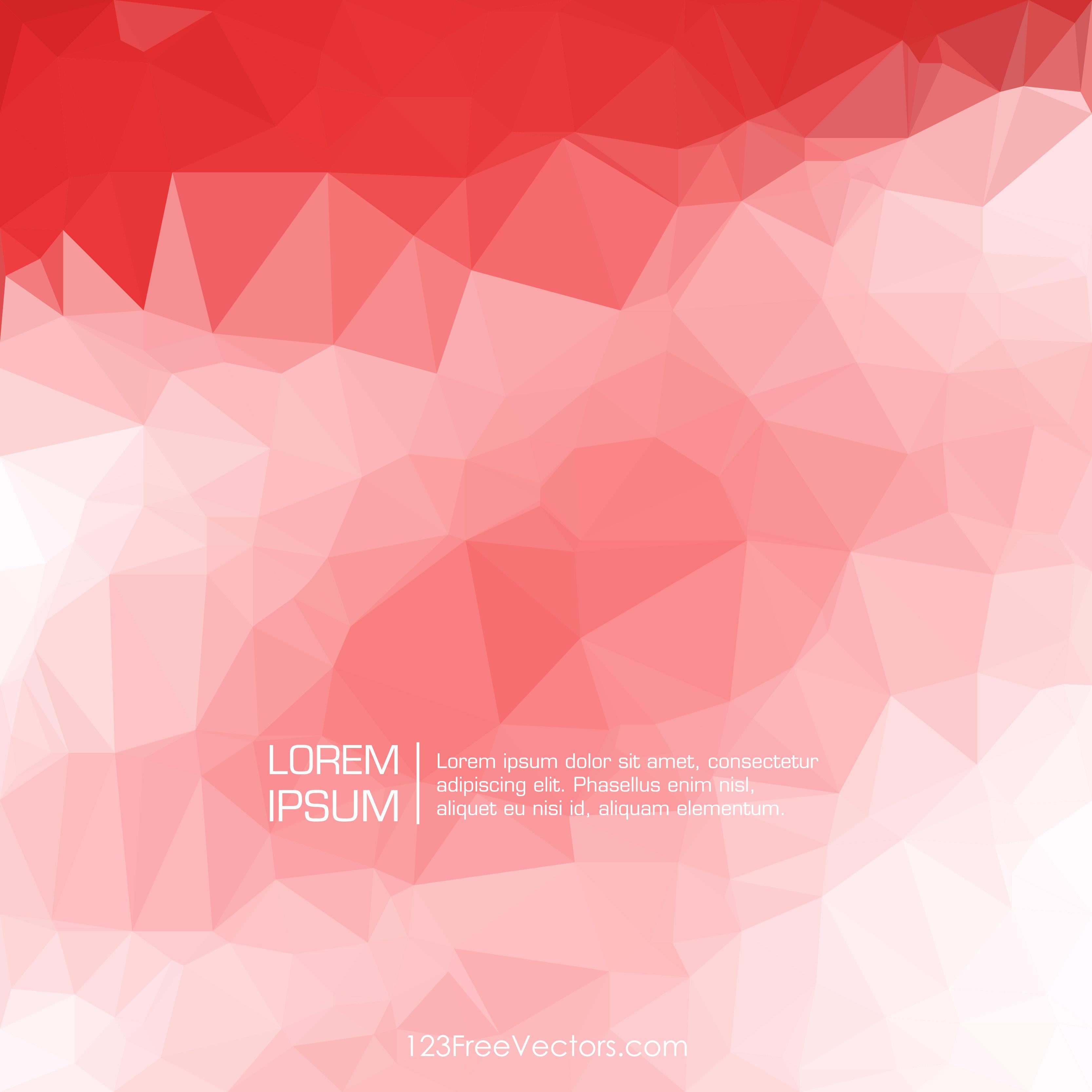 Polygonal Light Red Wallpaper Pattern Background