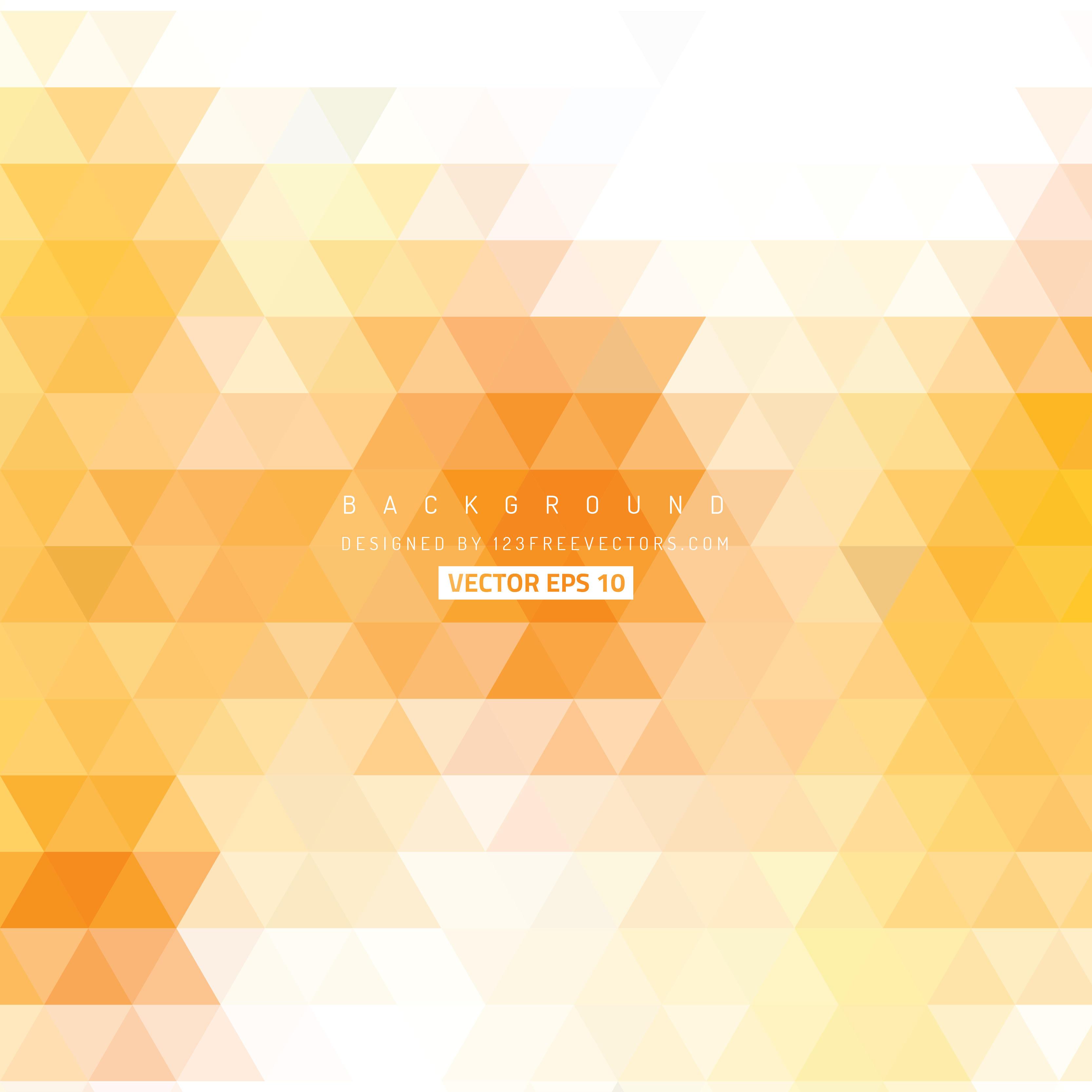Light Orange Triangle Shape Background | 123Freevectors for Background Pattern Light Orange  539wja