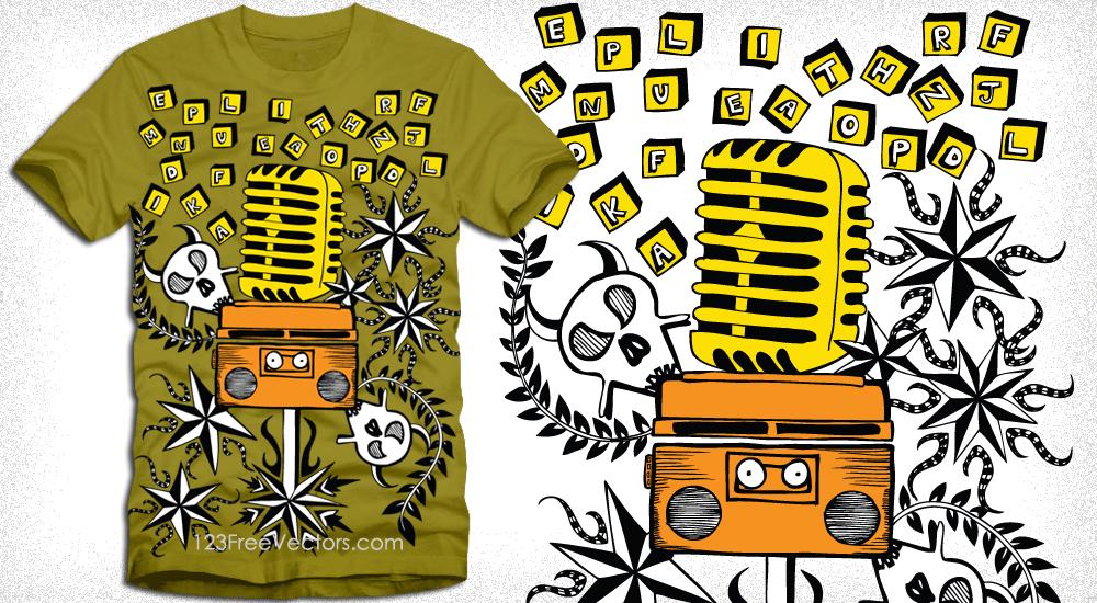 Art Music T Shirt Design