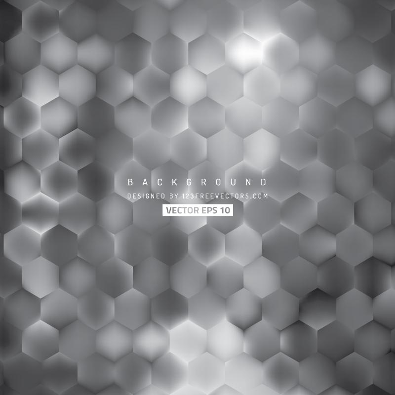 Abstract Dark Gray Hexagon Pattern Background Design