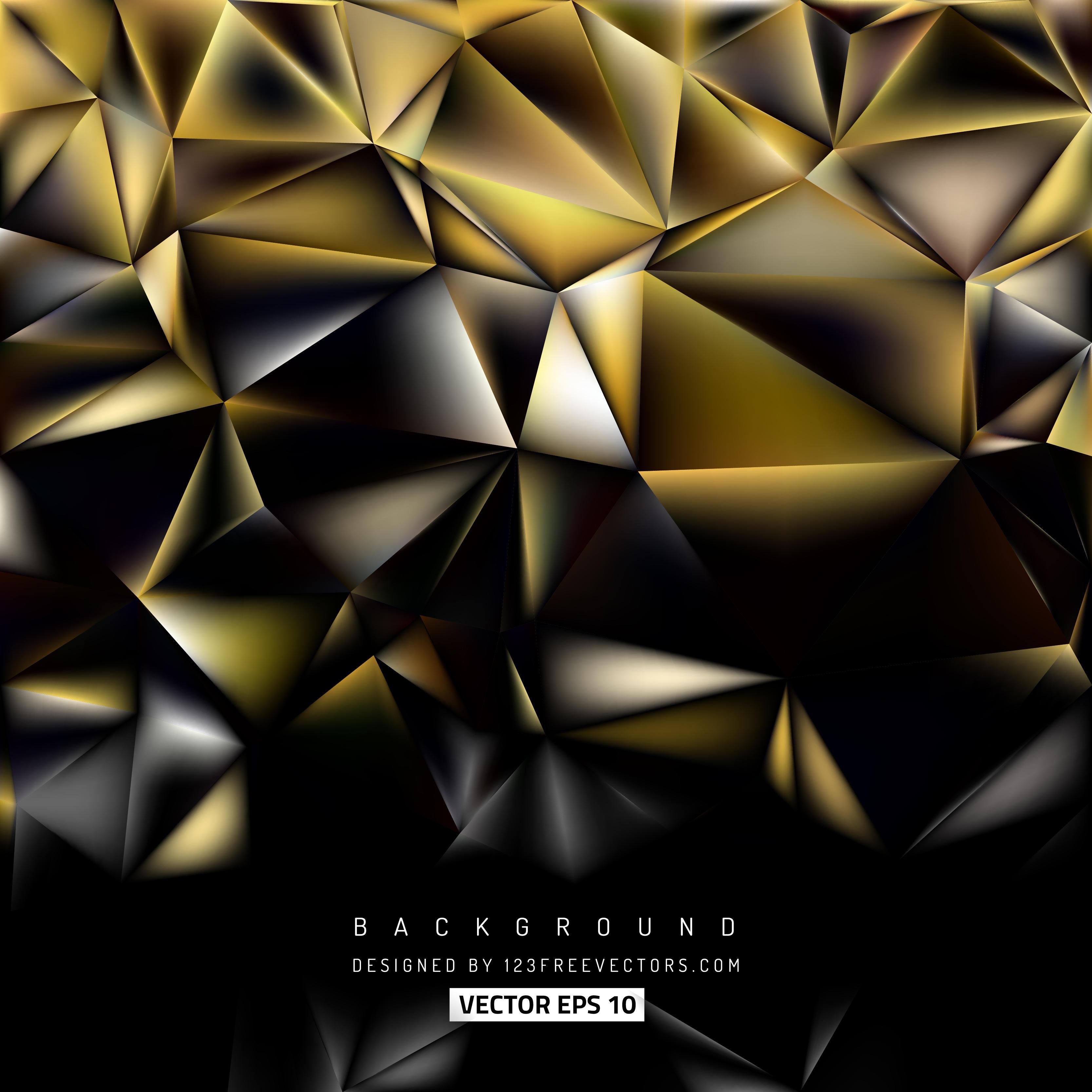 Black Gold Polygonal Background Design
